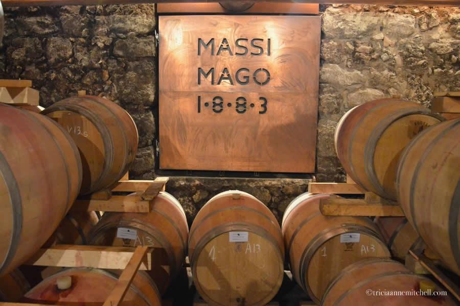 Massimago Winery Cellar