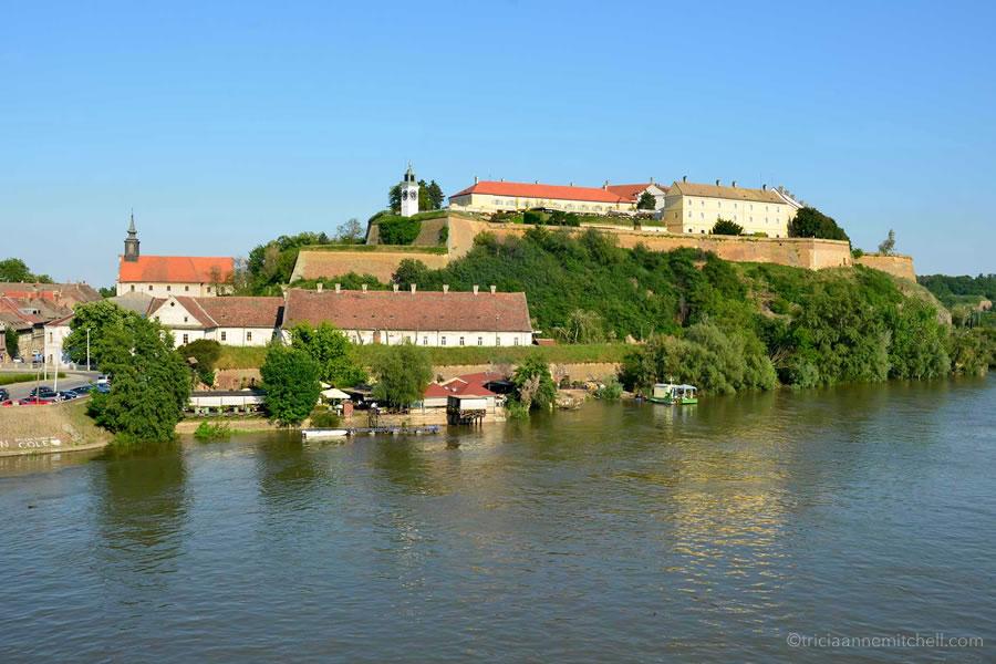 Novi Sad's Petrovaradin Fortress, on a sunny day.