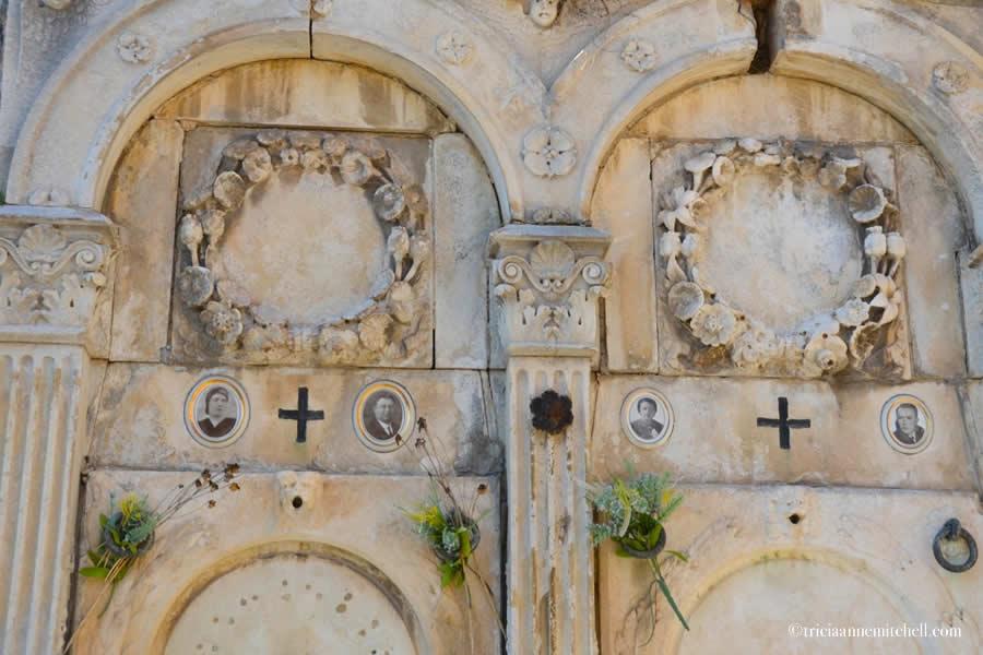 Sibenik Croatia Cemetery headstone