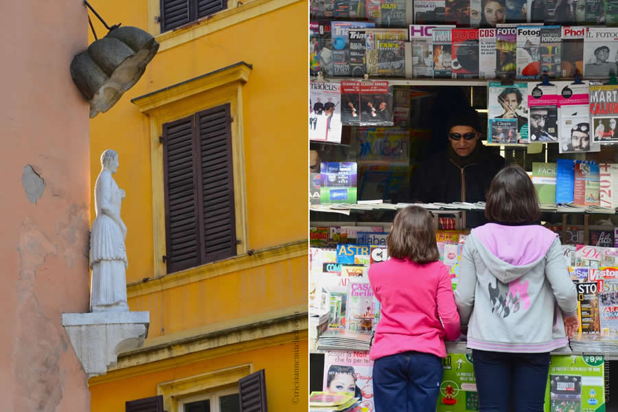 Statue of the Bonissima Modena Newsstand