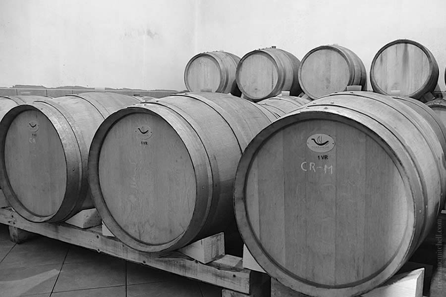 Barrels at Krolo Winery