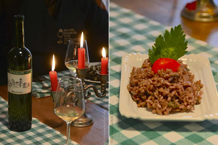 Croatian Zinfandel Risotto and Wine Split Cooking Class