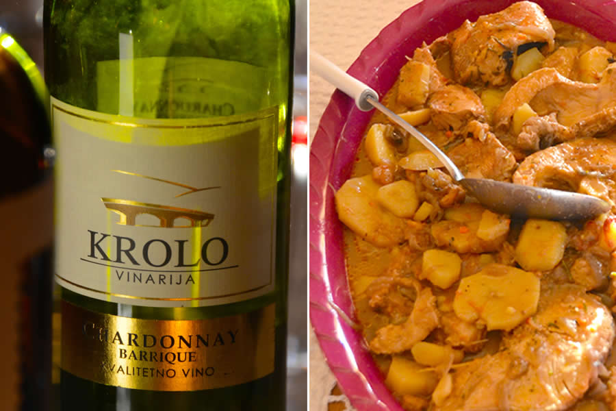 Krolo Winery Chardonnay and Fish Brodetto