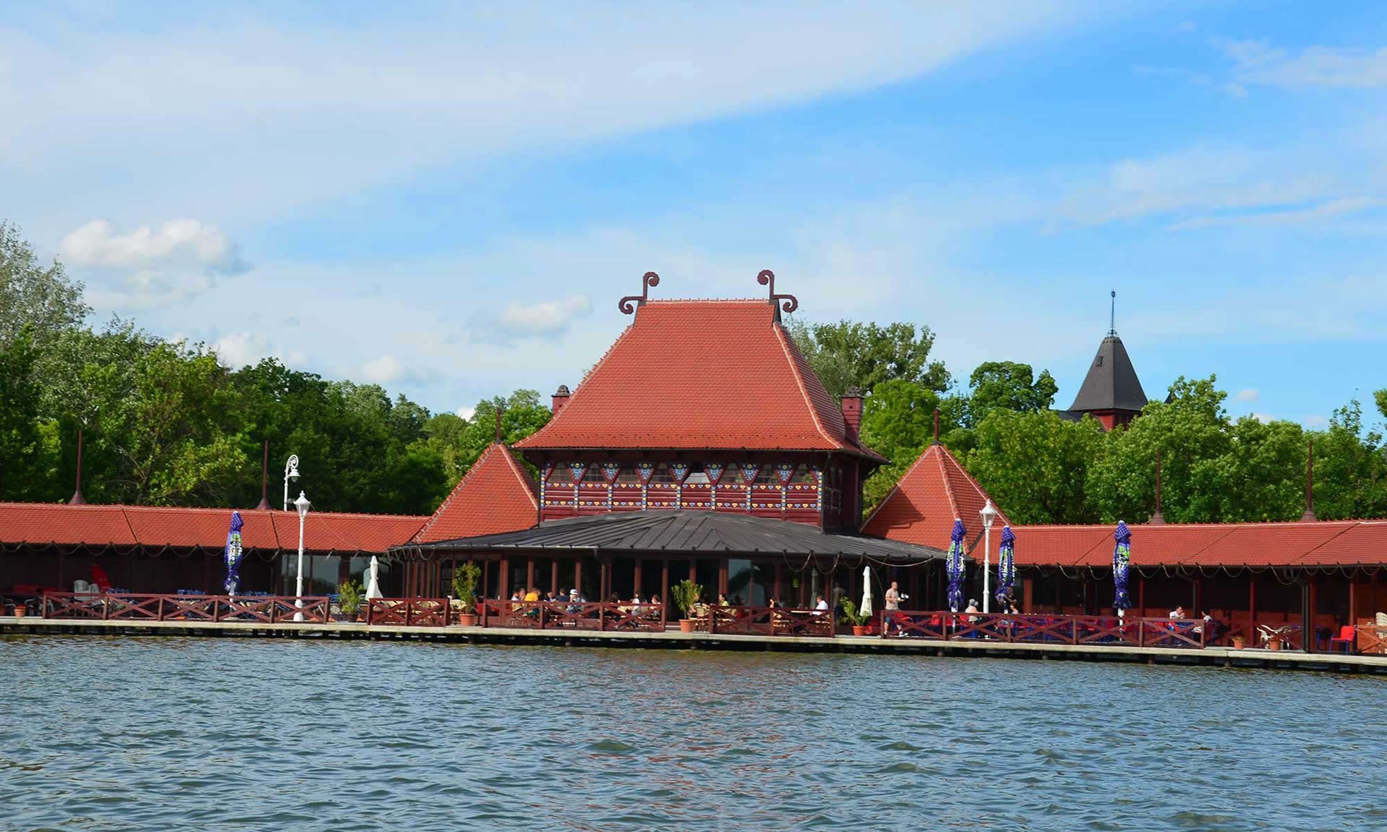 The Women's Lido building overlooks Lake Palic, in northern Serbia.