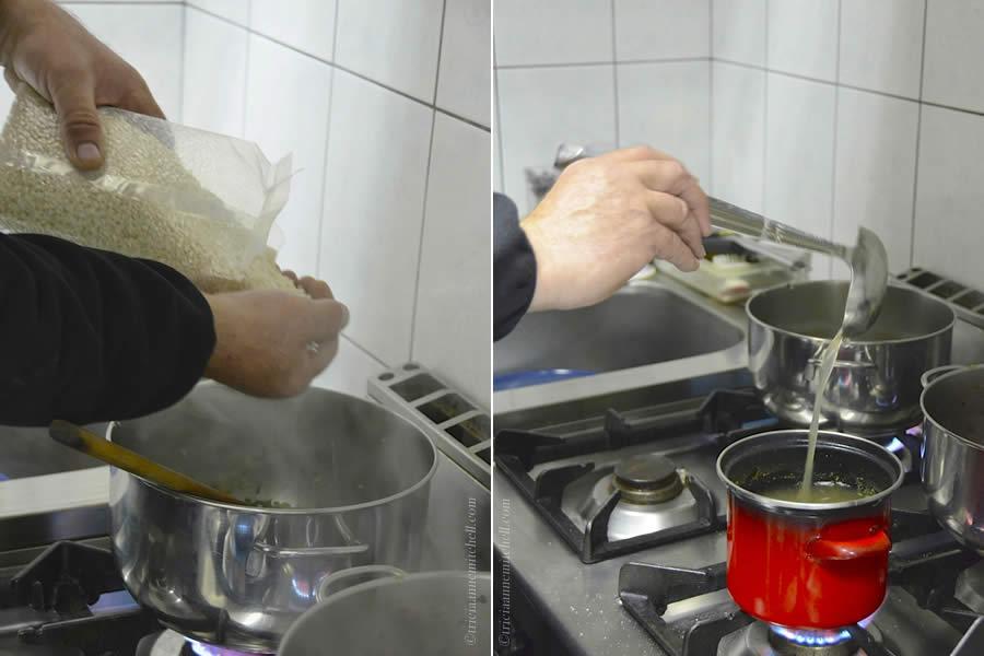 Making Croatian Zinfandel Risotto Split Cooking Class