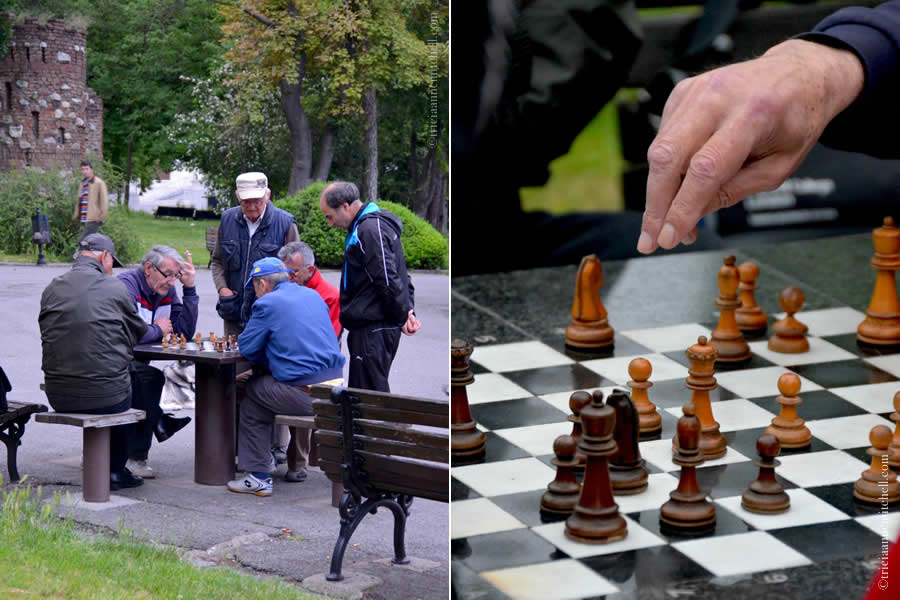 Belgrade Men Playing Chess park