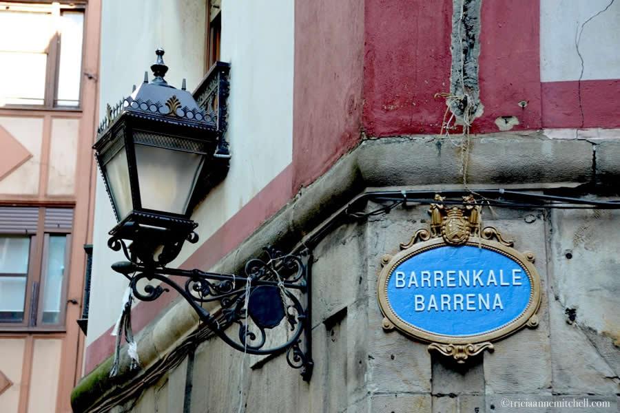 Bilbao Street Sign