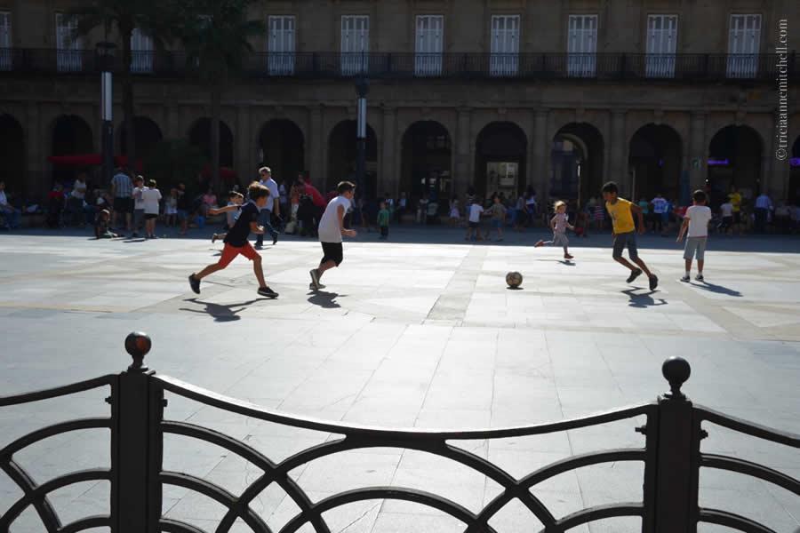 Children playing soccer Bilbao