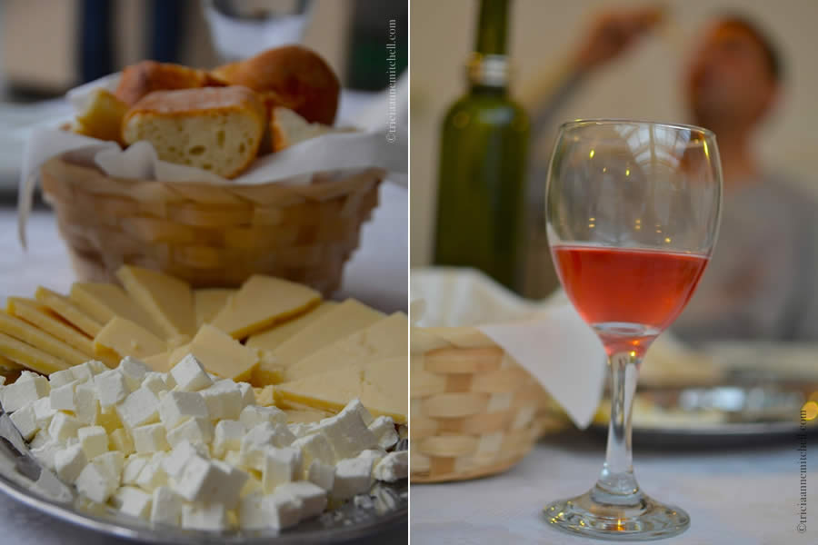 Croatian Cheese and Zinfandel Rosé Wine