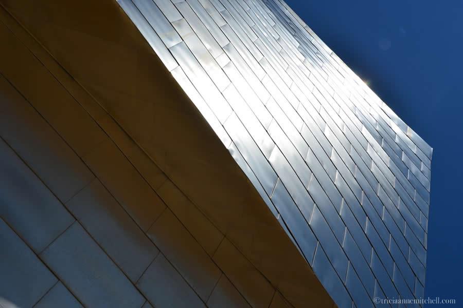 Guggenheim Museum Bilbao Spain in sunlight