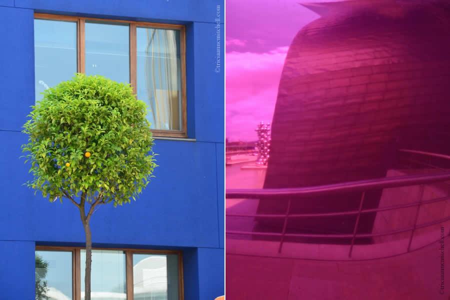 Guggenheim Museum Bilbao Tulip Reflection