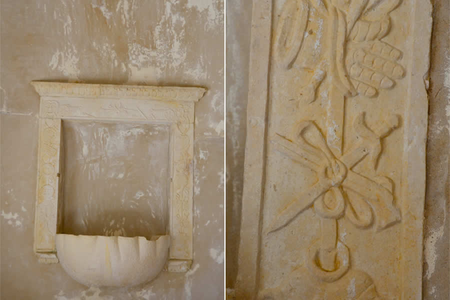 Klis Fortress Church Holy Water Font