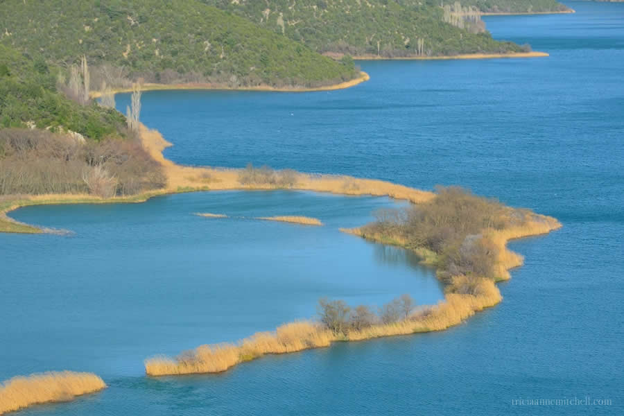 Krka National Park blue water