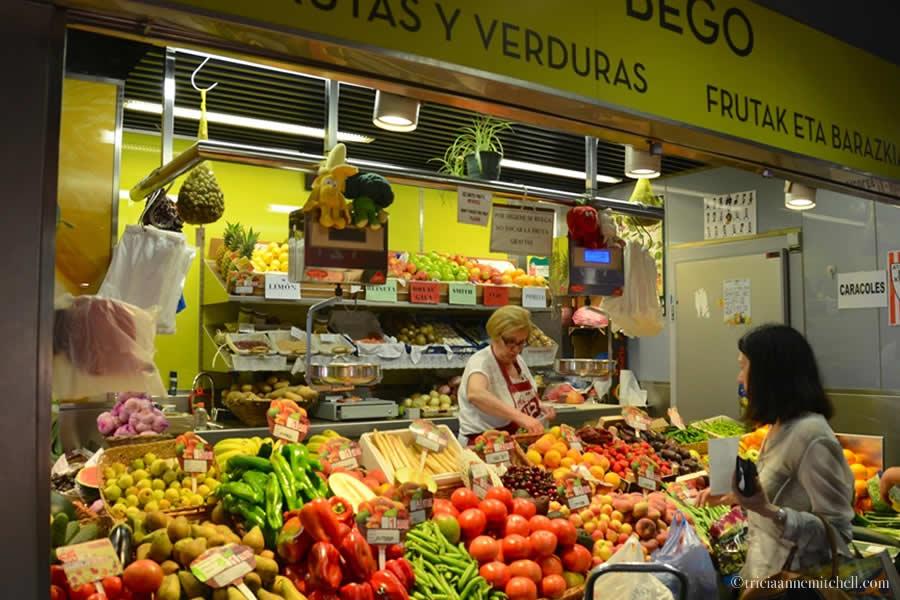 Mercado de la Ribera vegetables Bilbao