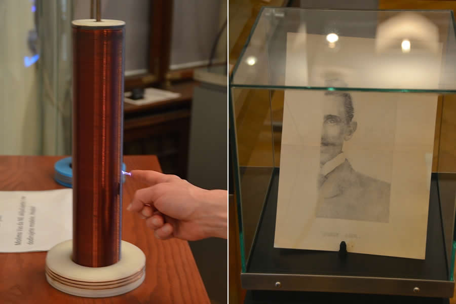Nikola Tesla Museum Belgrade Serbia Coil and Drawing