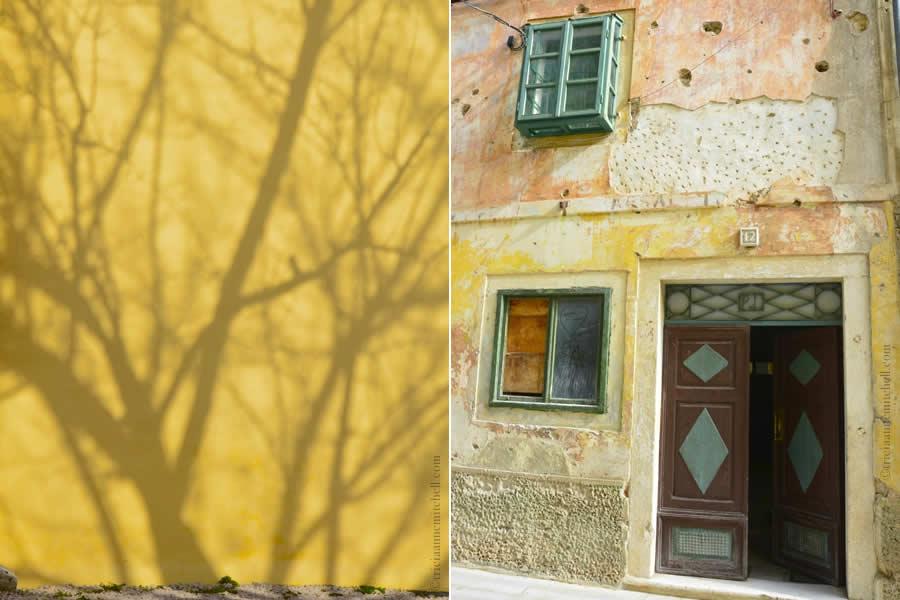 Skradin Croatia Buildings with pock marks