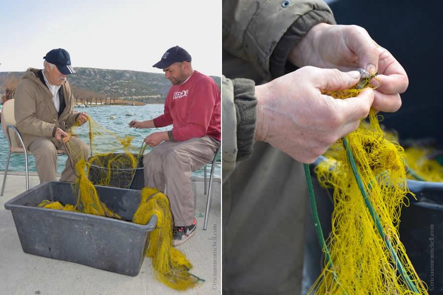 Skradin Croatia Fishermen Nets