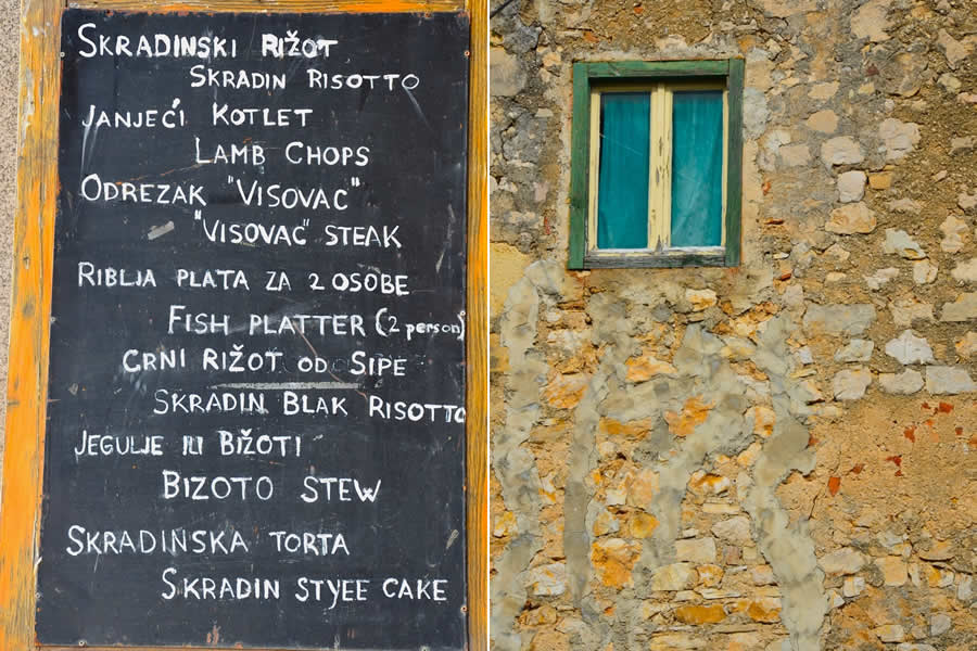Skradin Croatia Risotto Menu
