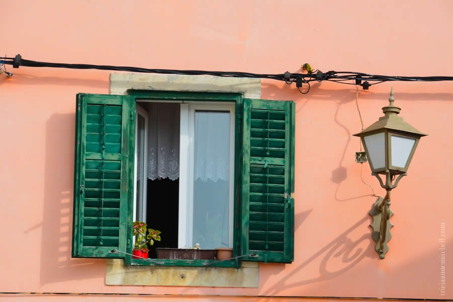 Skradin Croatia window with shutters