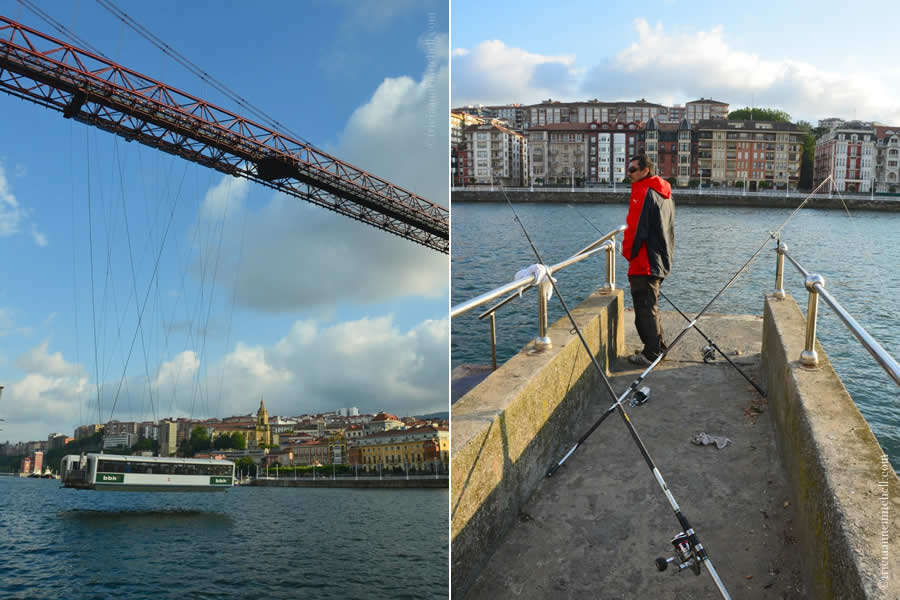 Vizcaya Bridge Fishing Bilbao