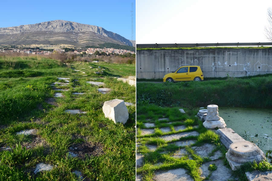 Ancient Salona Roman Road