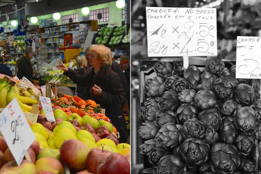 Artichoke and Fruit Modena Market Italy