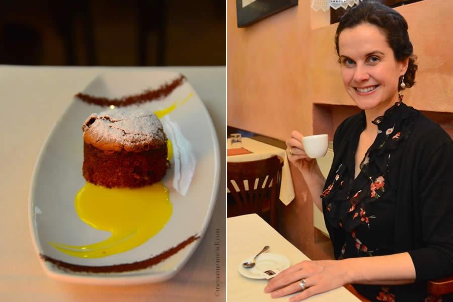 Chocolate Torte and Espresso Modena Italy