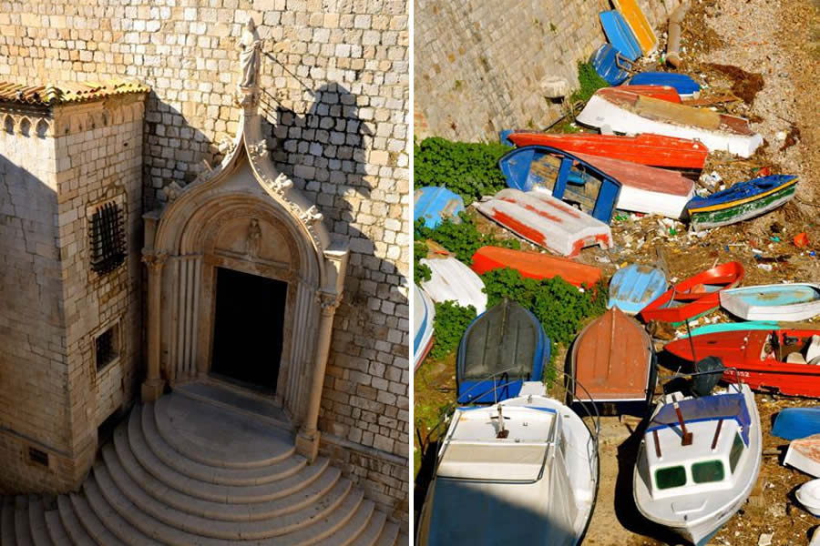 Dubrovnik Church and Boats