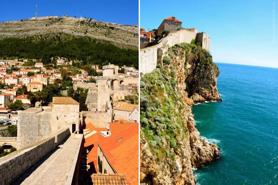 Dubrovnik Walls Adriatic Sea