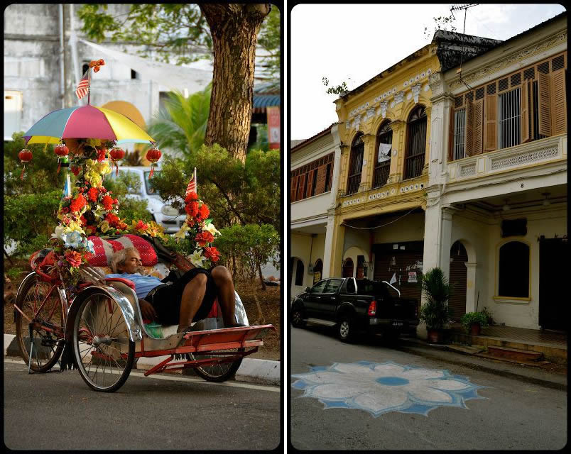 Georgetown-Cycle-Rickshaw-Kolam-Chalk-ARt
