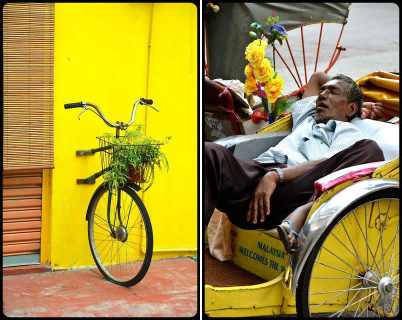 Georgetown-Penang-Bikes-cycle-rickshaw-driver-sleeping