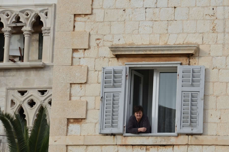 Hvar woman in window