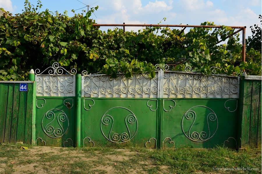 Moldova Village Home Folk Art Gate