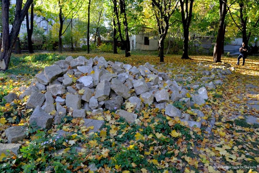 Lviv Ukraine Jewish Cemetery Headstone fragments