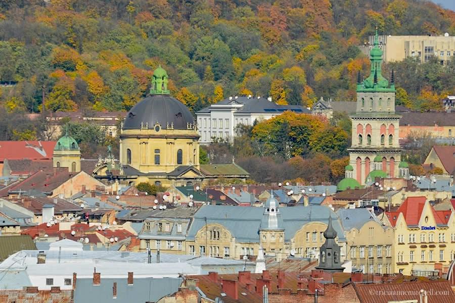 Lviv Ukraine Skyline