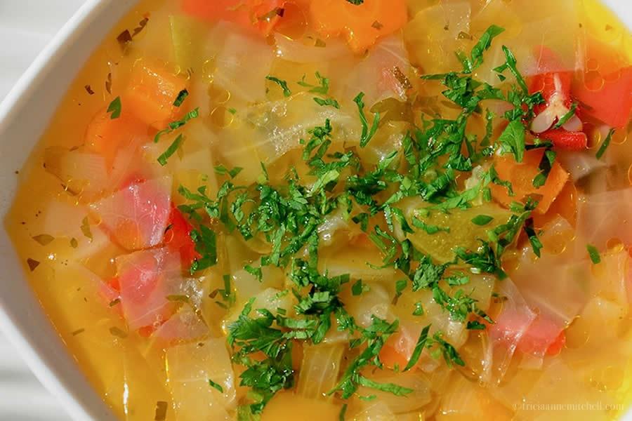 Moldovan Vegetable Soup Chateau Vartely