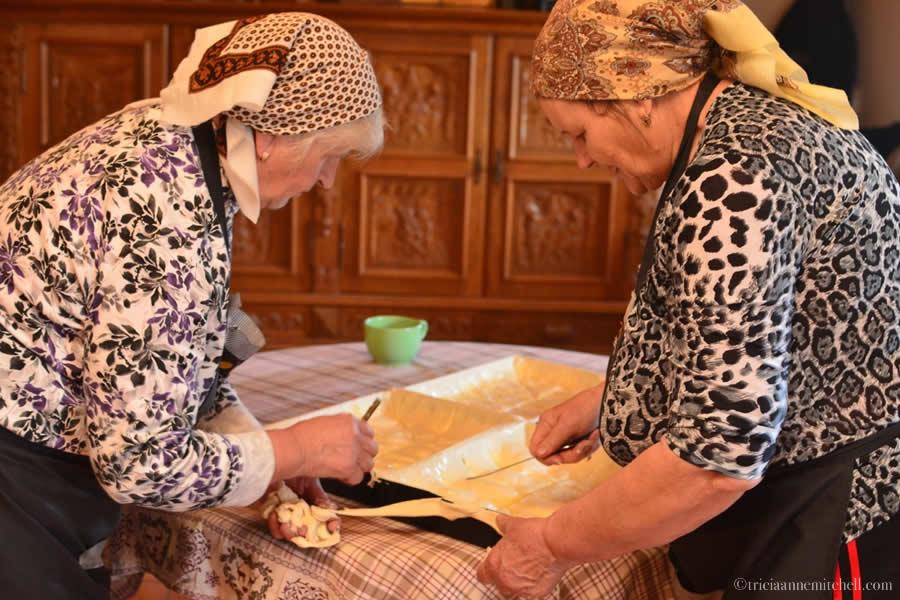 Making Plăcintă Pastry Step by Step