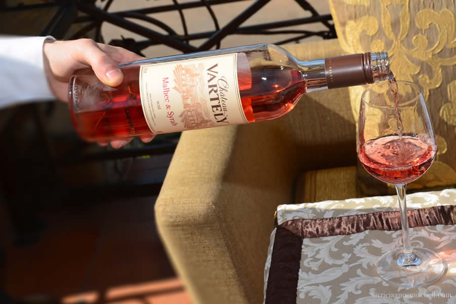 Moldovan Wine Chateau Vartely Malbec and Syrah Rose