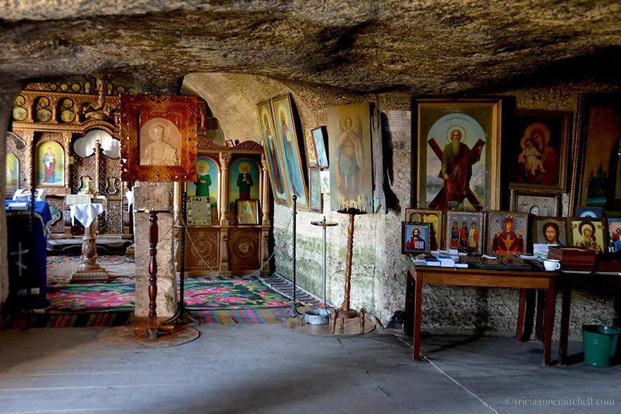 Old Orhei Cave Monastery Interior