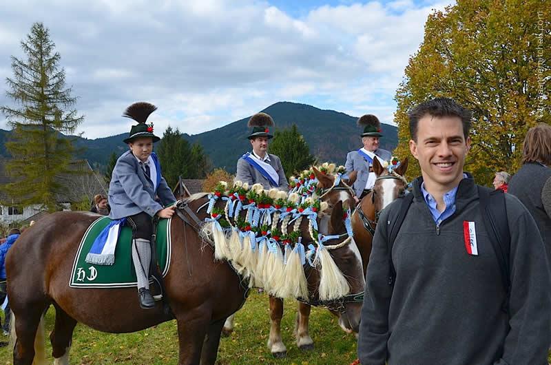 Shawn at Leonhardiritt horse blessing