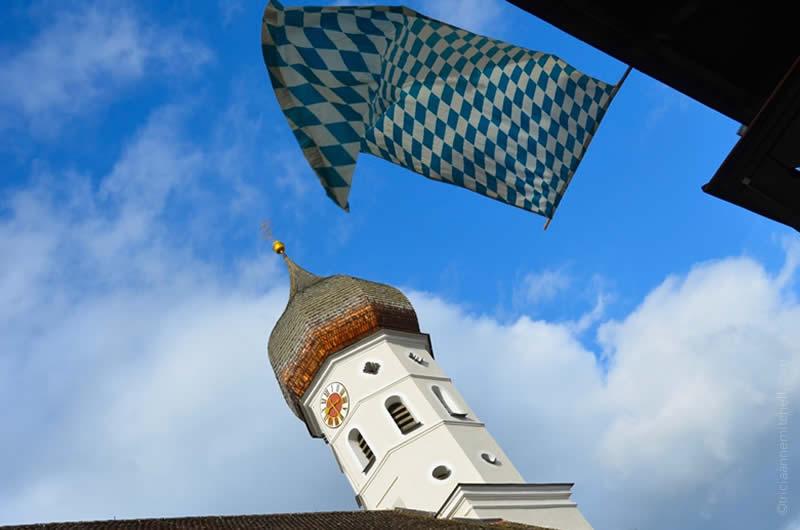 Unterammergau horse blessing center church