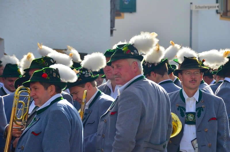 Unterammergau horse blessing parade band members