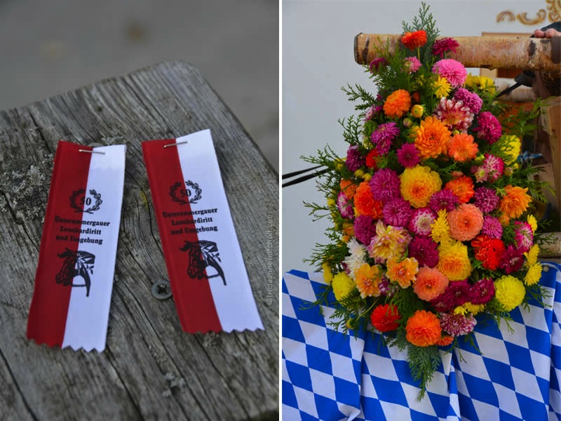 entrance ribbons and flowers for the Unterammergau Leonhardiritt