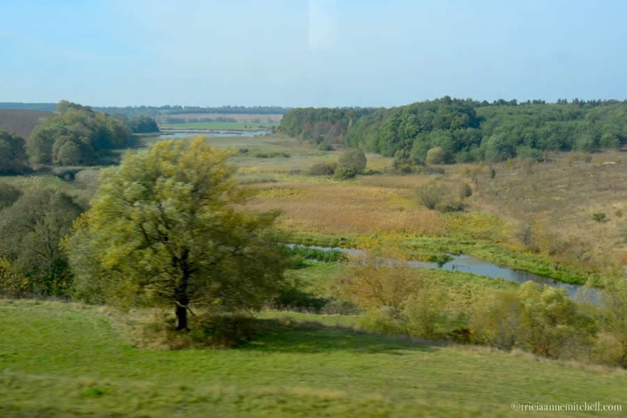 Ukrainian countryside from train