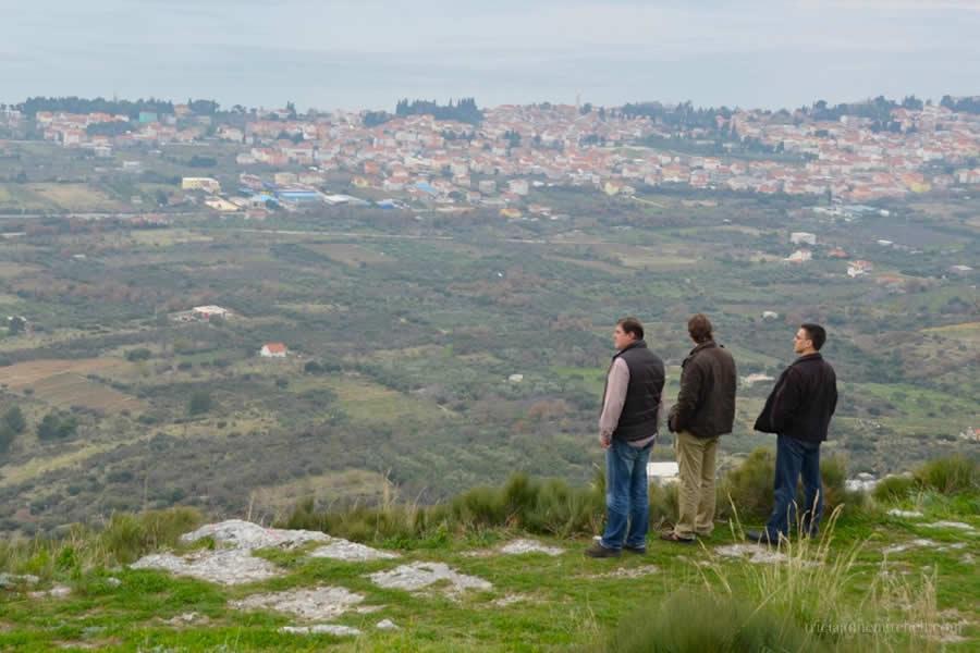 Admiring view of Adriatic from Kozjak Vineyards