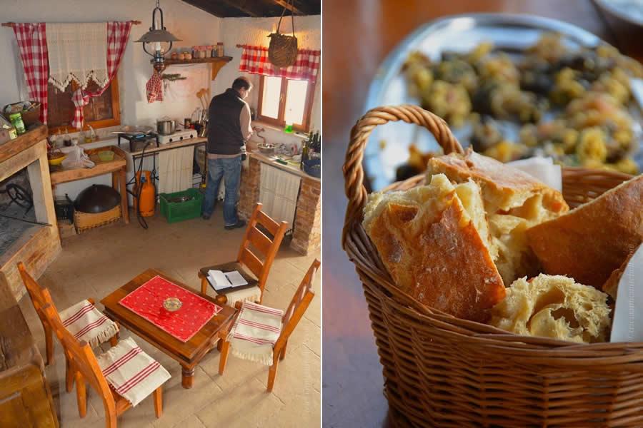 Croatian food and bread in Split