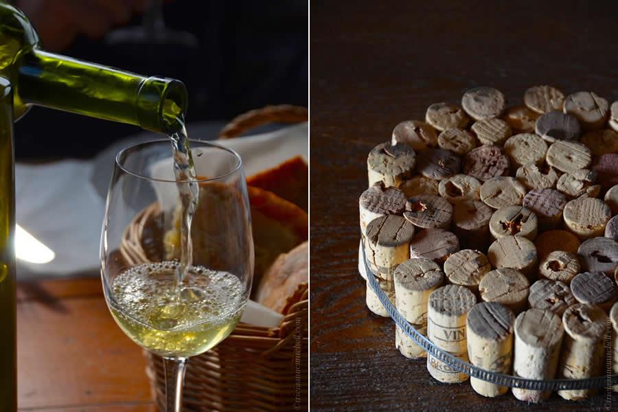 Croatian Marastina wine and wine cork trivet