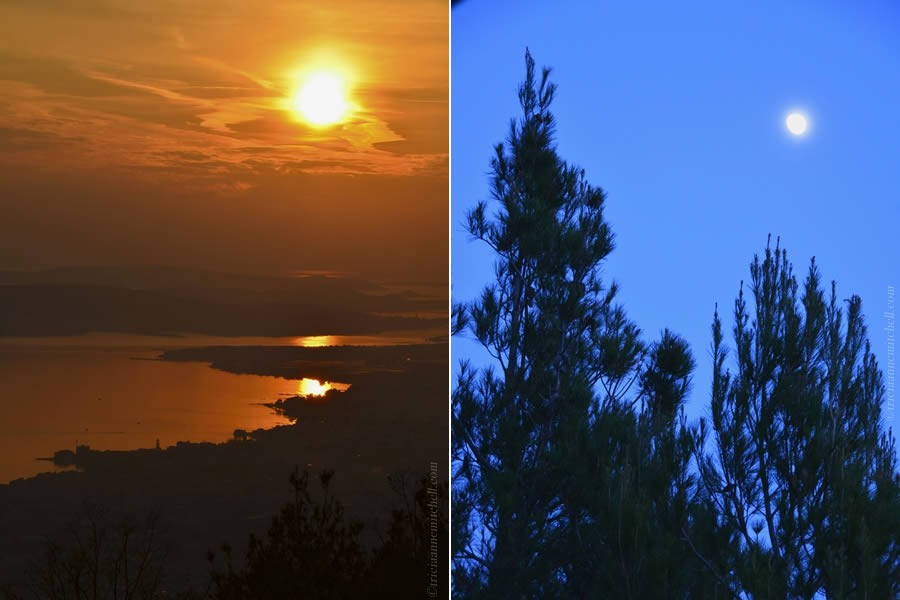 Sunset and Moonlight Split Croatia