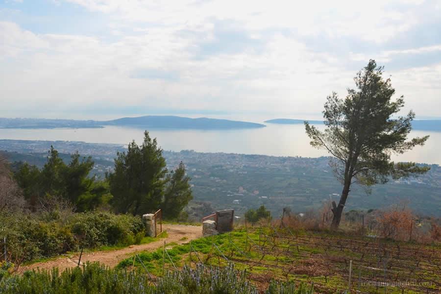 View of Adriatic Sea and Croatian Islands from Kastela near Split