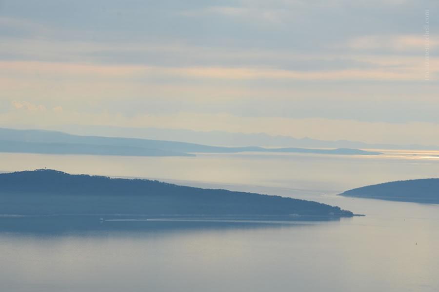 Views of Croatian Islands and Adriatic near Split